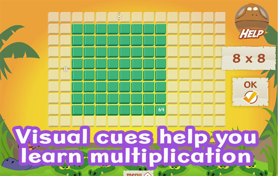 Visual cues help you learn multiplcation